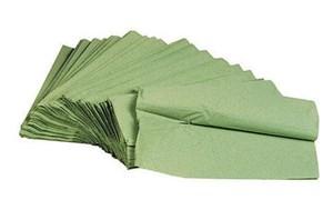 Obrázek Ručníky papírové skládané  -  ručníky zelené / jednovrstvé / 250 ks