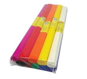 Obrázek Krepový papír - role / 50 x 200 cm / hnědá