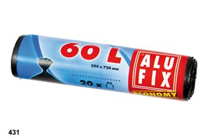 Obrázek Alufix Economy pytle do košů 70x55 cm 60 l 20 ks černé