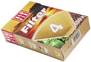 Obrázek Filtry na kávu Alufix - č. 4 / 80 ks