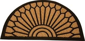 Obrázek Ekonomická venkovní rohož Exotic - 40 x 60 / půlkruh