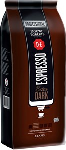 Obrázek Káva Douwe Egberts - DE Espresso Extra Dark / zrno / 1kg