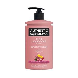 Obrázek AUTHENTIC brusinky a nektarinky tekuté mýdlo 400 ml