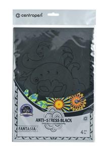 Obrázek Omalovánky 9997/4 Antistress black / 4 ks / motivy Fantasia